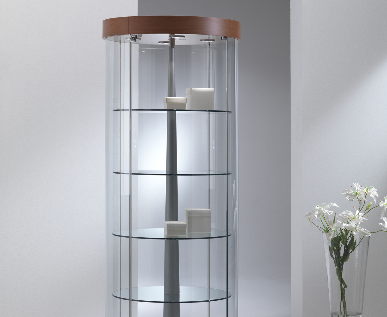 View Round, Oval, Corner & Shaped Display Cabinets category